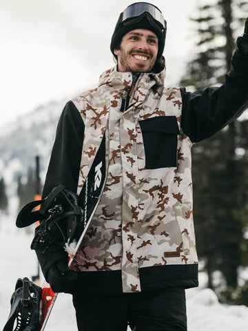 Pipeline Jacket Printed - Quicksand Camo