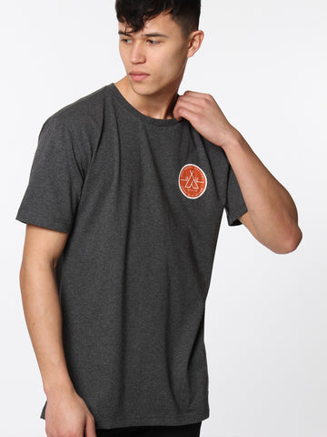 Outsider Tee - Charcoal Marl