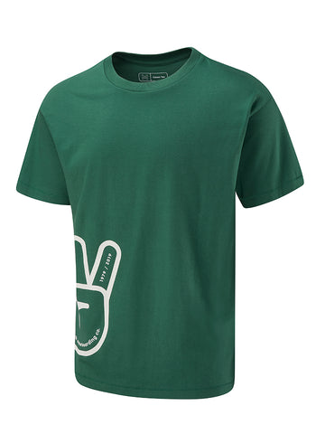 Peace Glove Tee - Hunter Green