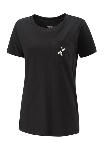 Pocket Boarder Ladies Tee - Black