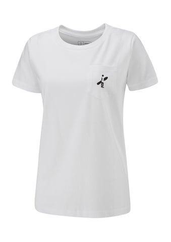 Pocket Boarder Ladies Tee - White