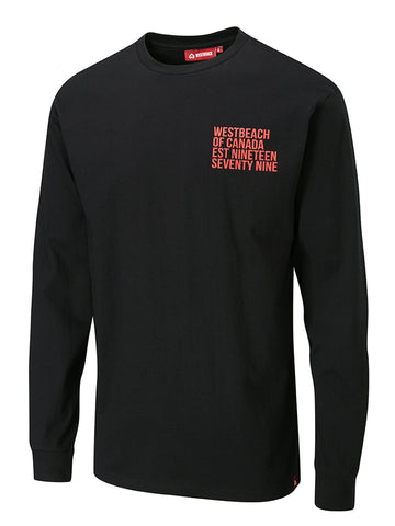 Pop 79 Long Sleeve Tee - Black
