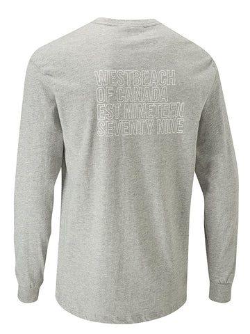 Pop 79 Long Sleeve Tee - Grey Marl