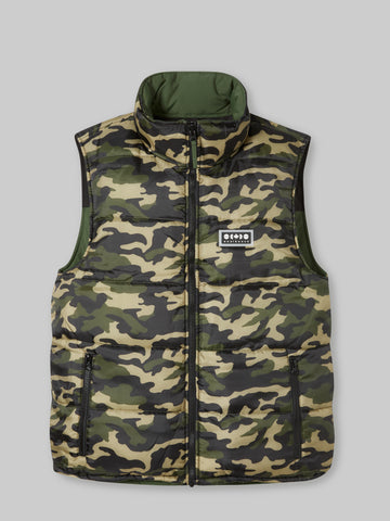 Banff Reversible Vest - Dark Green