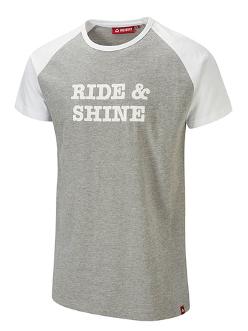 Ride & Shine Tee - Grey Marl