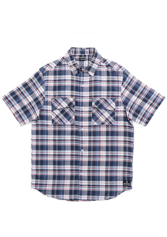 Sherman Short Sleeve Shirt - Indigo Plaid