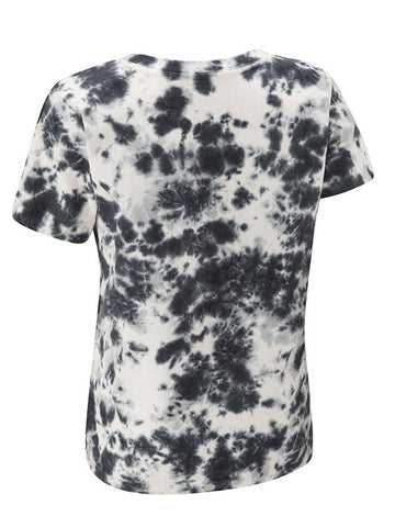 Tie Dye Repeater Ladies Tee - Black Marble