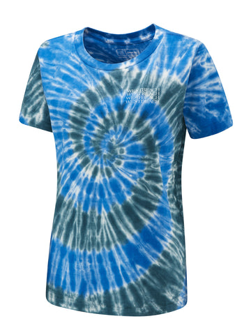 Tie Dye Repeater Ladies Tee - Endless Blue Twist