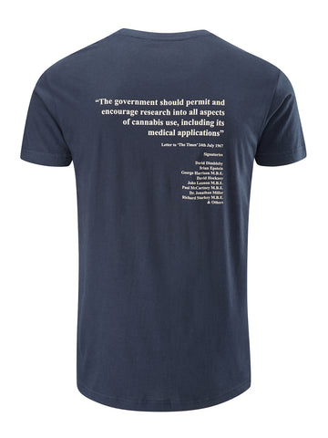 Research Tee - Navy
