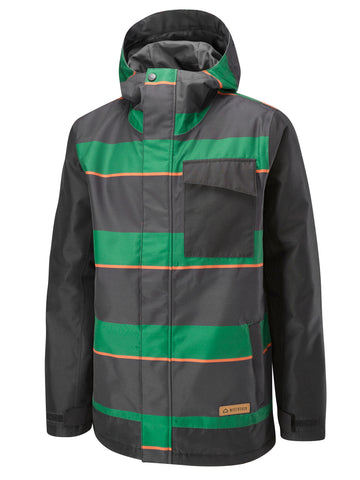 Pipeline Jacket Printed - Hunter Green Super Stripe
