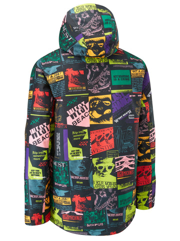 Pipeline Jacket Printed - Time Machine Print