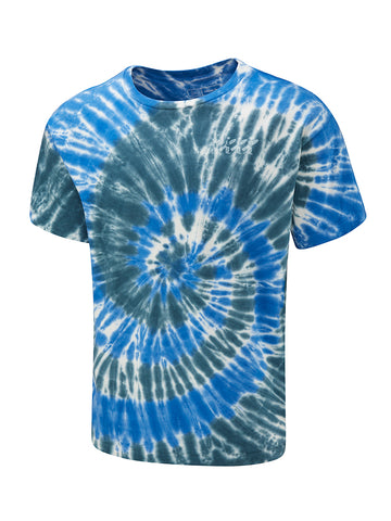 Tie Dye Boarder Tee - Endless Blue Twist
