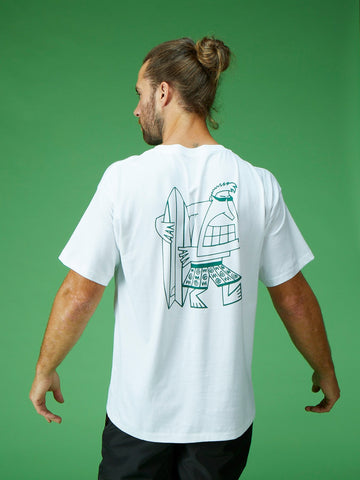 Rippin Rod Tee - White