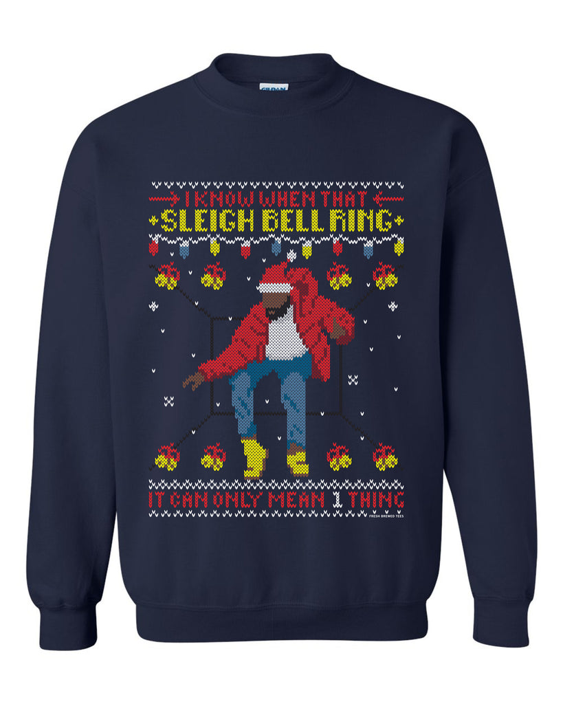 Hotline Ring Sleigh Bell Ring Ugly Christmas Sweatshirt CHRISTMAS SALE!