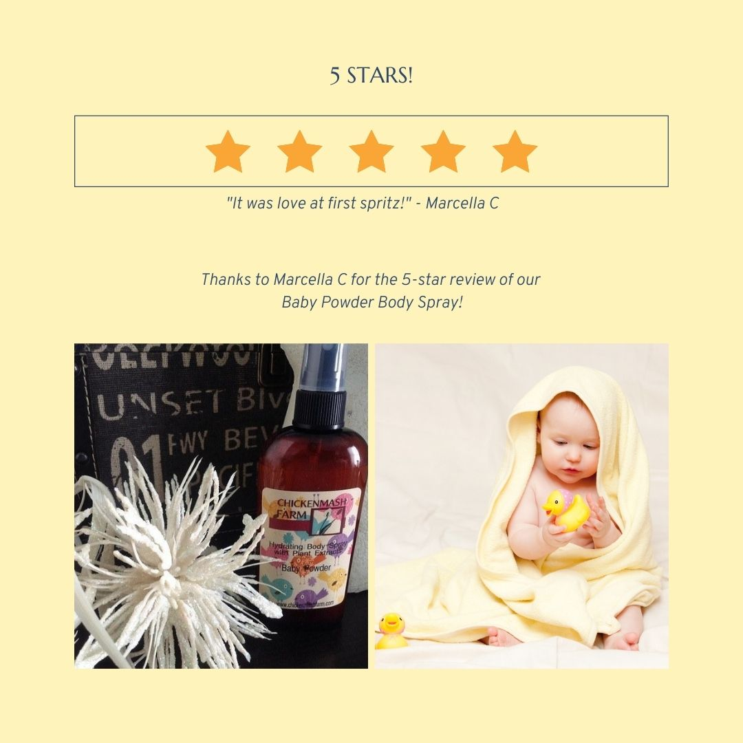 fragrant baby powder spray