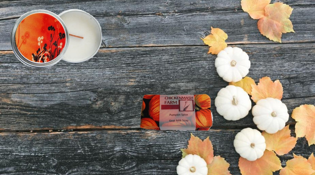 fall scented candles and body care products collection