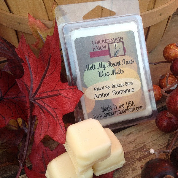 Amber Romance Candle Melt | Melt My Heart Tarts | 6 Pack Clamshell Wax Melts - Chickenmash Farm