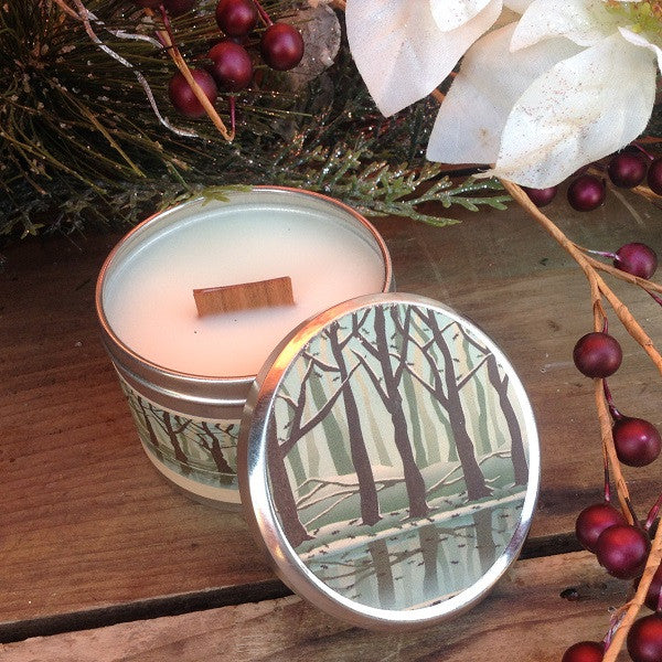 Fireside Wood Wick Soy Candle-Chickenmash Farm