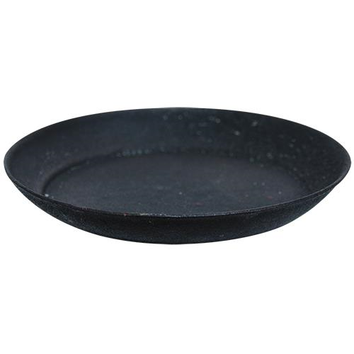 "Metal Pie Pan Candle Plate 4"" Black Pillar Candle Holder-Chickenmash Farm"