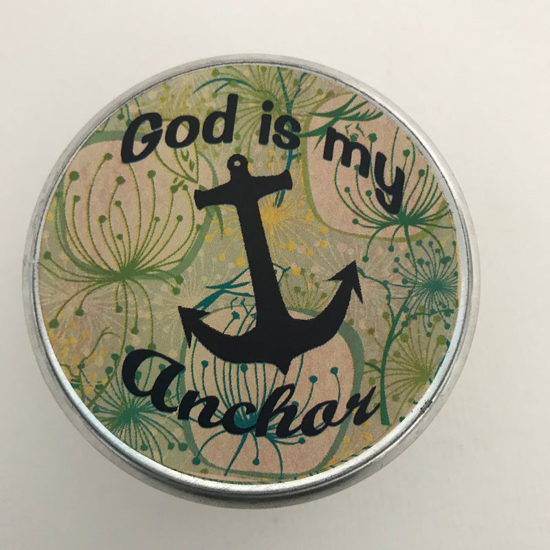 God Is My Anchor | Inspirational Candle | Ocean Breeze Scent-Chickenmash Farm