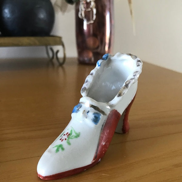 Porcelain miniature shoe