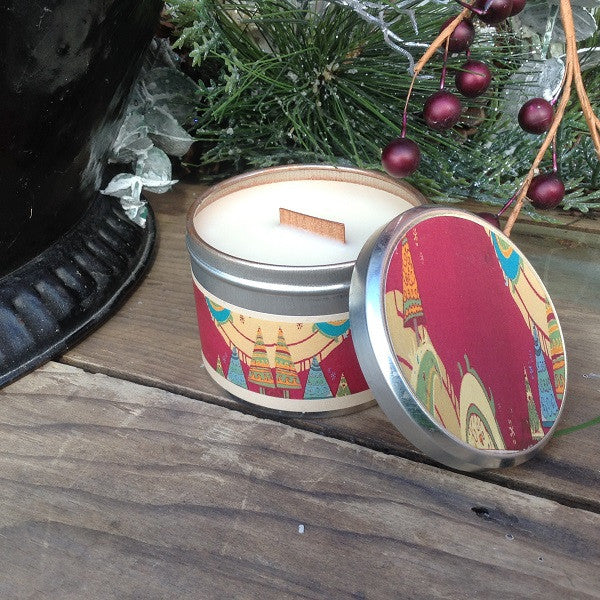 Sugar Plum Wood Wick Soy Candle-Chickenmash Farm