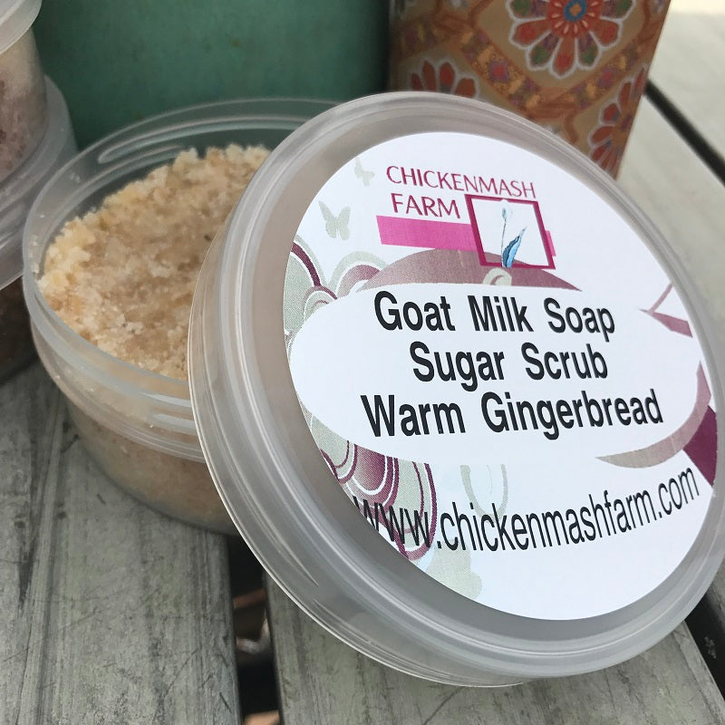 Warm Gingerbread Goat Milk Soap Sugar Scrub-Chickenmash Farm