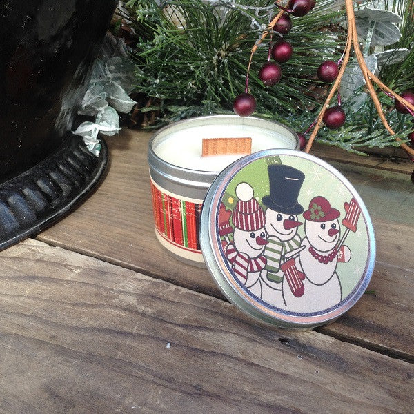 Winter Candy Apple Wood Wick Soy Candle-Chickenmash Farm