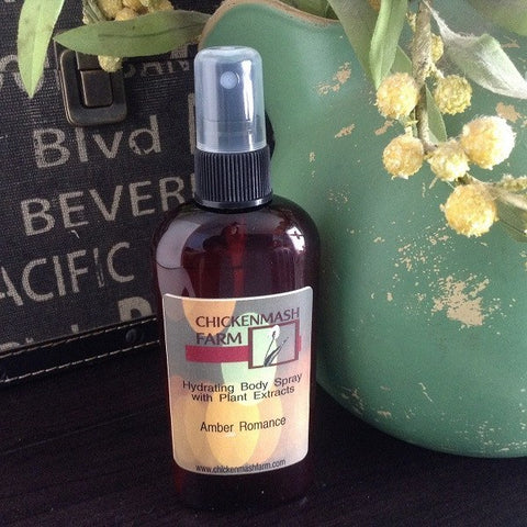 Amber Romance Hydrating Body Spray - Chickenmash Farm