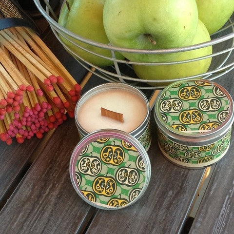 Apple Pie Wood Wick Soy Candle - Chickenmash Farm - 1
