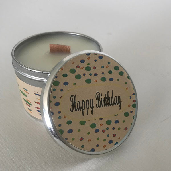 Happy Birthday Message Candle | Greeting Candle | Buttercream Cupcake-Chickenmash Farm