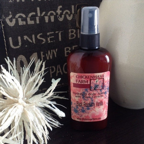Black Raspberry Vanilla Hydrating Body Spray - Chickenmash Farm