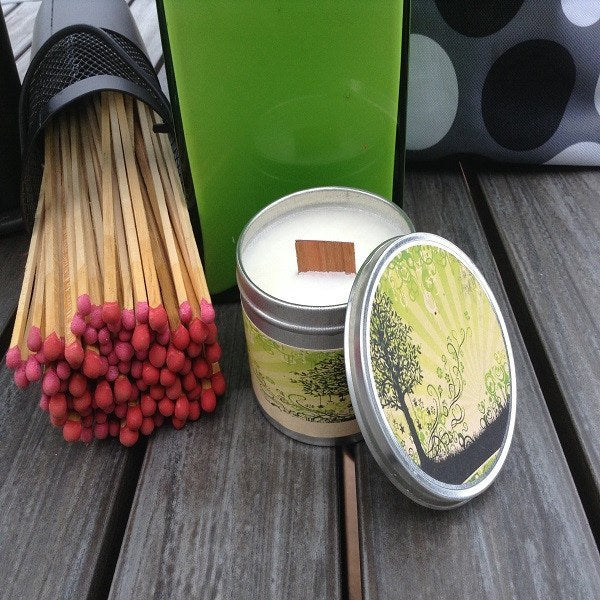 Coconut Lime Wood Wick Soy Candle-Chickenmash Farm