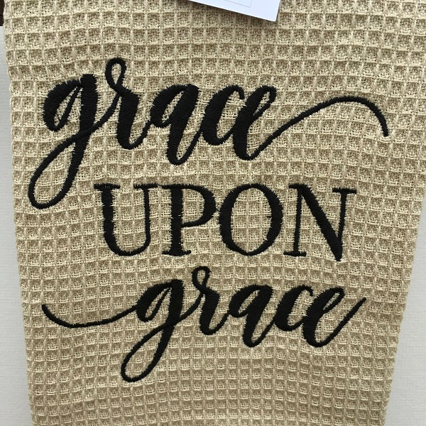 Craft House Designs Dish Towel Grave Upon Grace Dish Towel-Chickenmash Farm