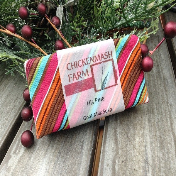 His Pine Goat Milk Soap-Chickenmash Farm