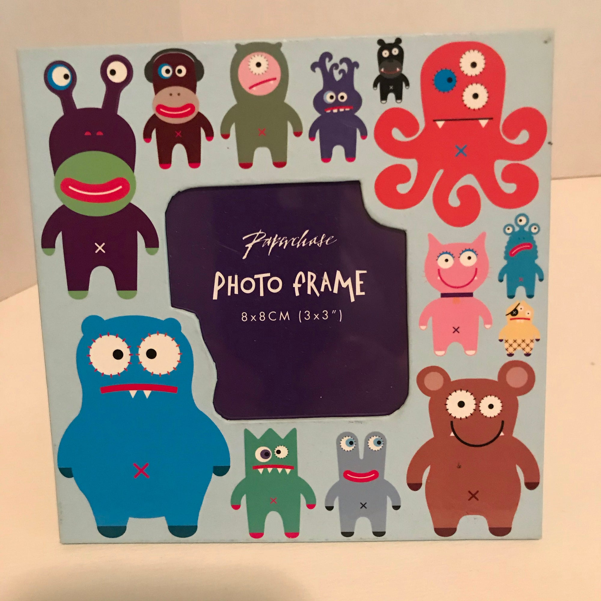 "Paperchase Monster Photo Frame 3""x3"" Children's Photo Frame for Boys-Chickenmash Farm"