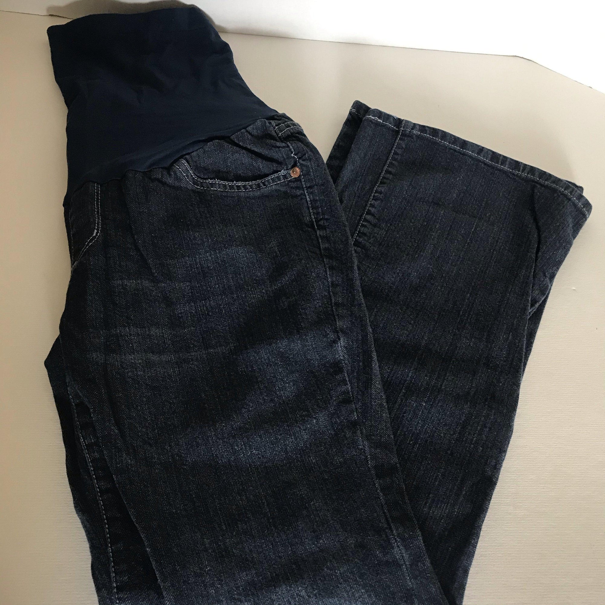 A Pea In The Pod Maternity Jeans, Full Panel Size PS-Chickenmash Farm