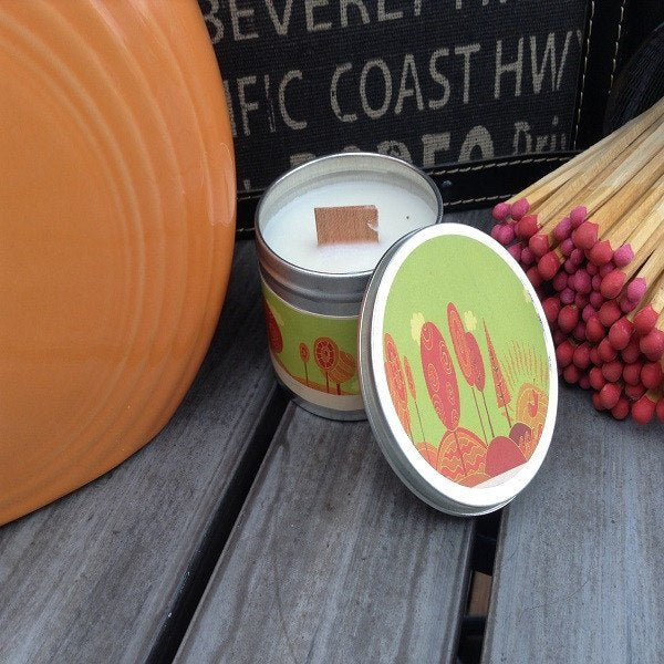 Just Peachy Wood Wick Soy Candle-Chickenmash Farm