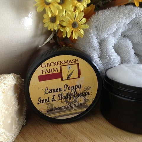 Lemon Poppy Foot & Body Cream - Chickenmash Farm