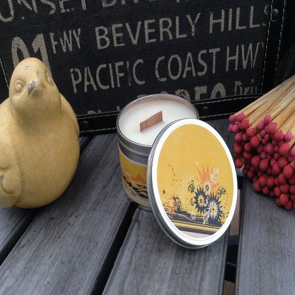 Lemon Sunshine Wood Wick Soy Candle-Chickenmash Farm
