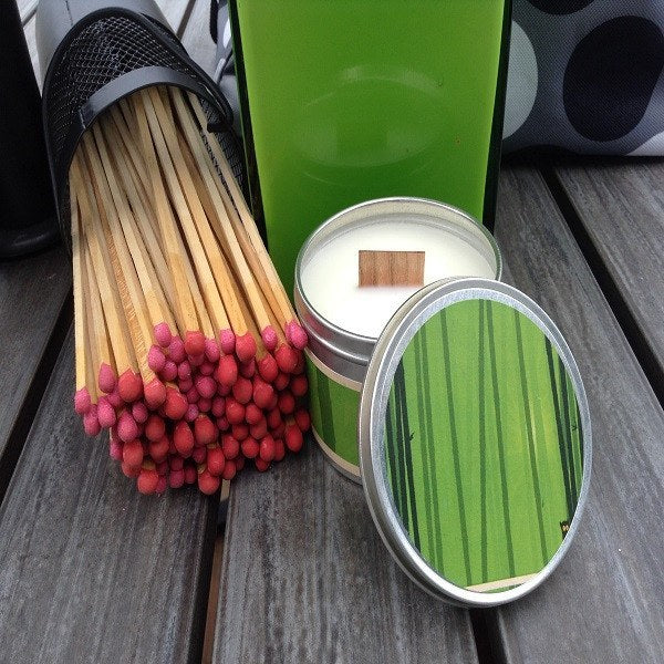 Lemongrass Scented Candles | Soy Candles with Wood Wicks-Chickenmash Farm