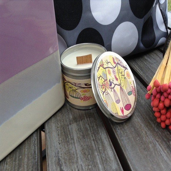 Lilac Wood Wick Soy Candle-Chickenmash Farm
