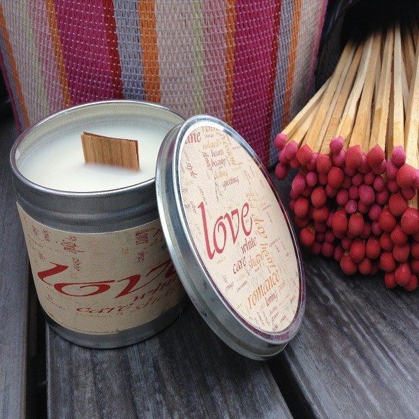 Love Spell Wood Wick Soy Candle-Chickenmash Farm