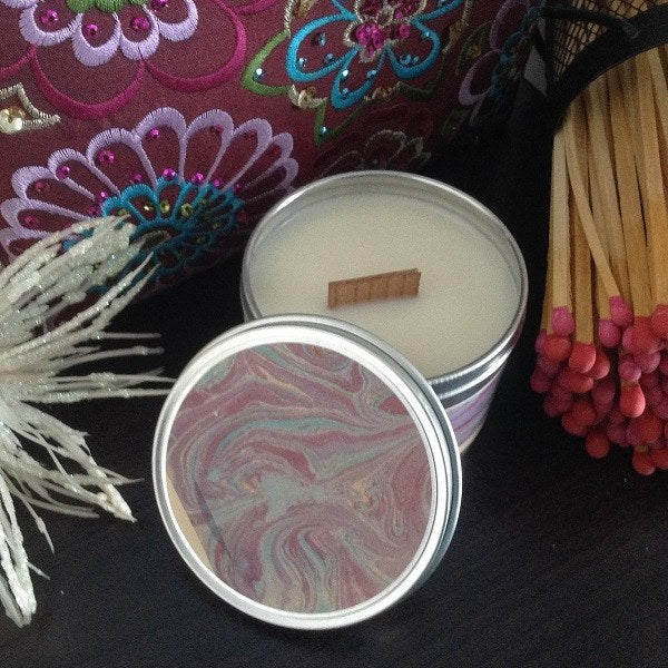 Patchouli Wood Wick Soy Wax Candle-Chickenmash Farm