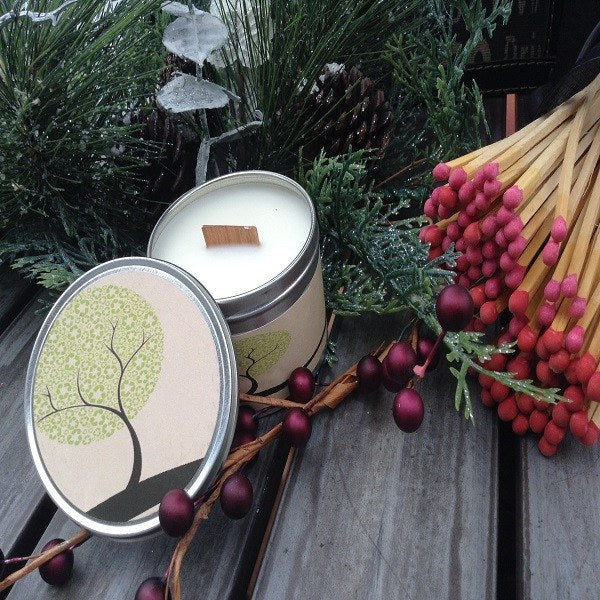 Pearberry Wood Wick Soy Wax Candle-Chickenmash Farm