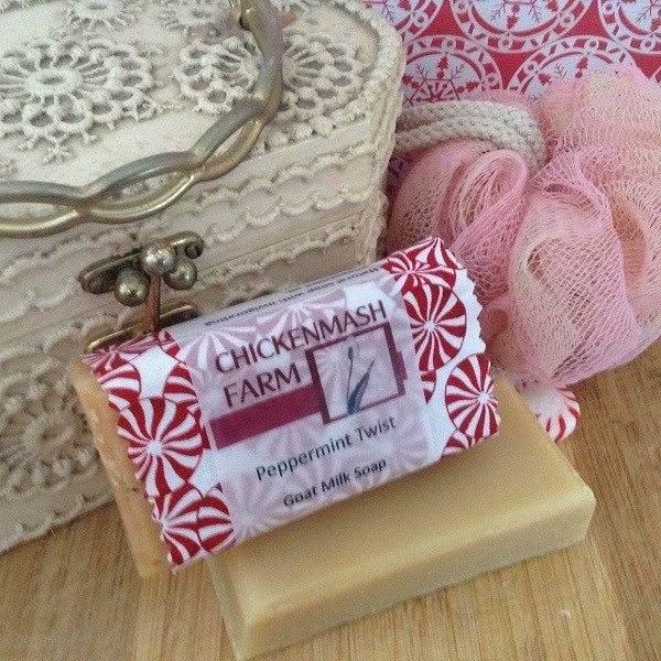 Peppermint Twist Goat Milk Soap-Chickenmash Farm