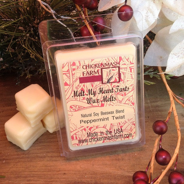 Peppermint Twist Melt My Heart Tarts | Candle Melts | Wax Melts-Chickenmash Farm