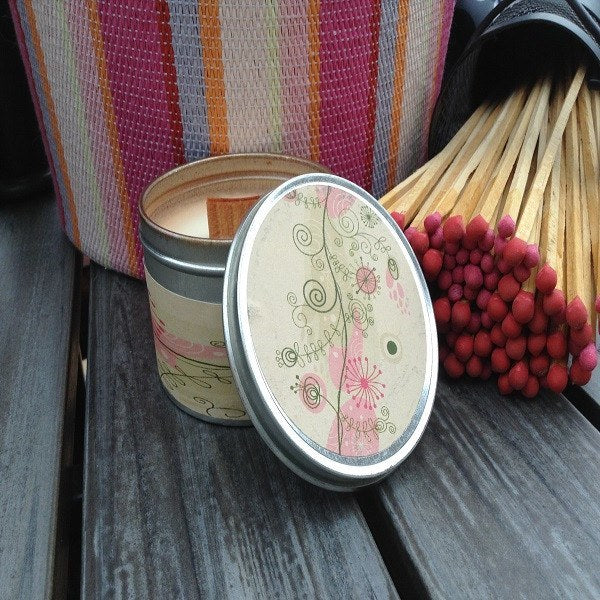Pink Sugar Wood Wick Soy Candle-Chickenmash Farm