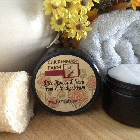 Rice Flower and Shea  Body Cream - Chickenmash Farm