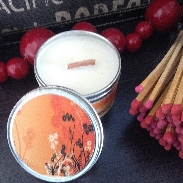 Sandalwood Wood Wick Soy Candle-Chickenmash Farm
